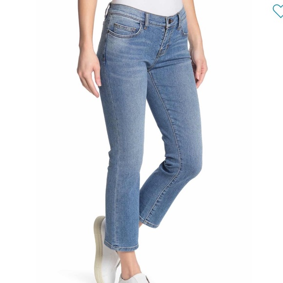 Current/Elliott Scooped ruby crop jeans